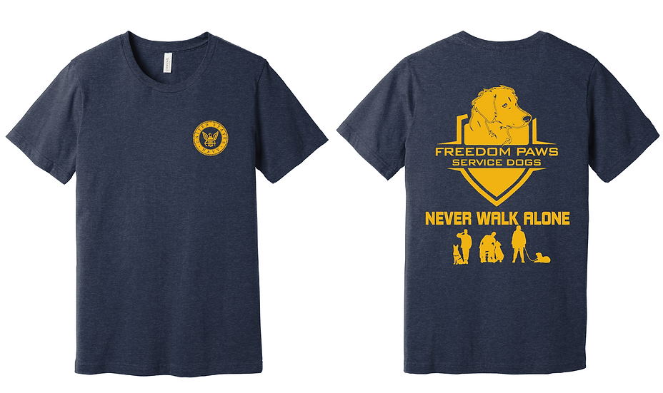 Navy Freedom Paws Service Dogs Foundation T-Shirt