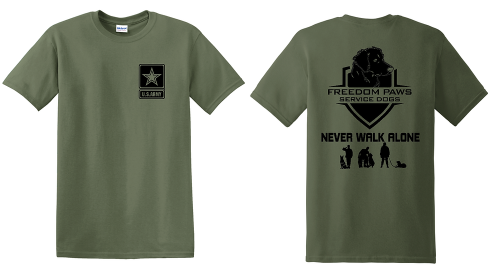 Army Freedom Paws Service Dogs Foundation T-Shirt