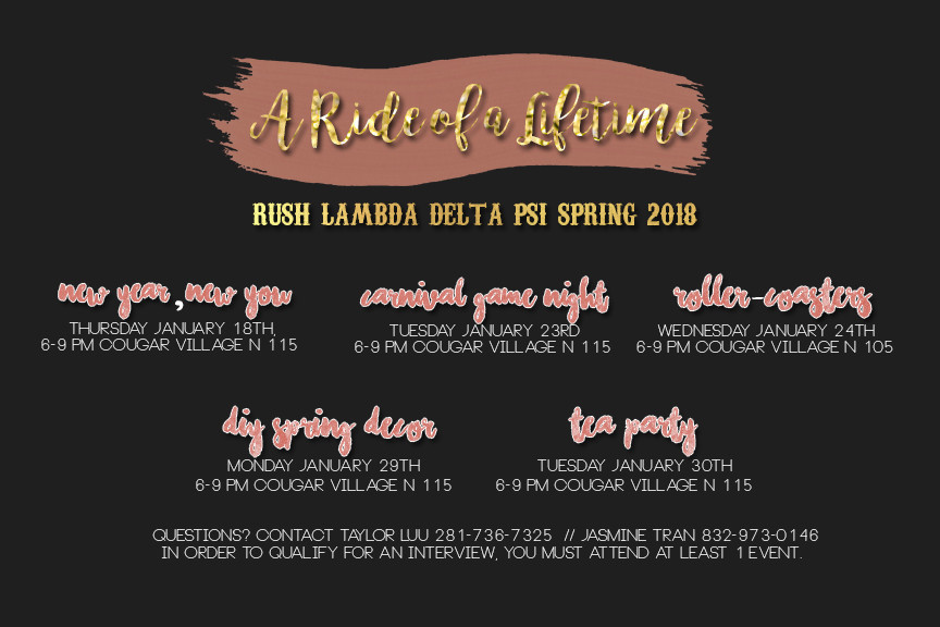 "Spring '18: ""A Ride of a Lifetime"""