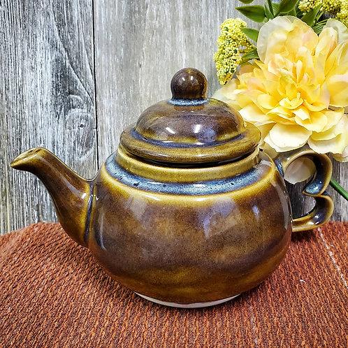 Caramel Blue Teapot
