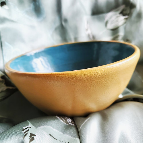 Yellow and Blue Bowl