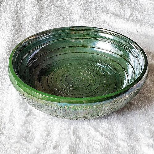 Vibrant Green Crackle Bowl