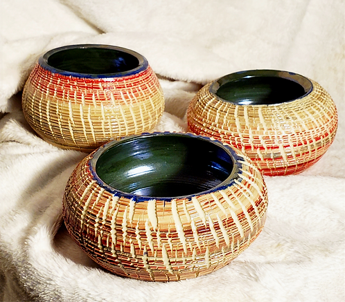Holiday Crackle Pots