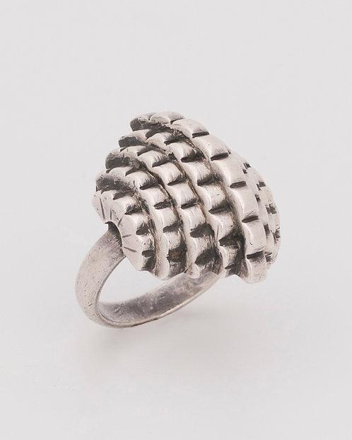 1929 Rare Jean Despres Art Deco Silver Geometric Ring
