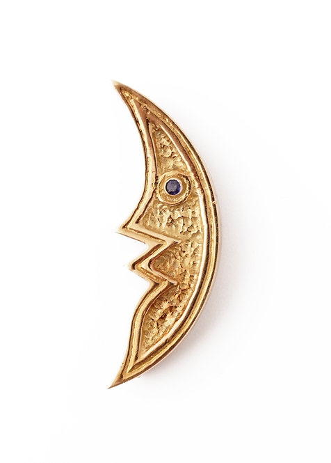 1963 Georges Braque Sapphire and Gold Lampetia Brooch
