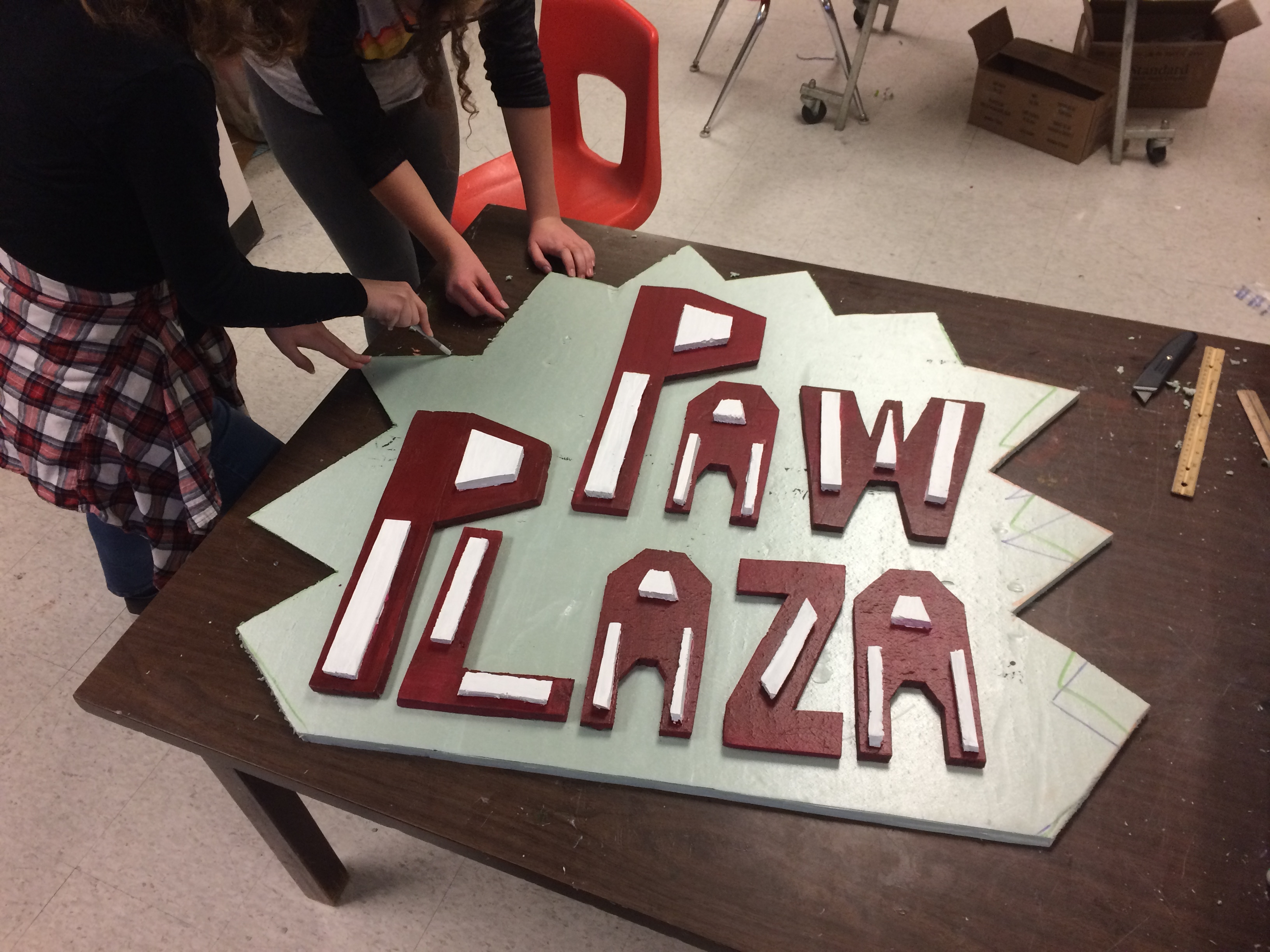 "Planning ""Paw Plaza"" Sign - 2016"
