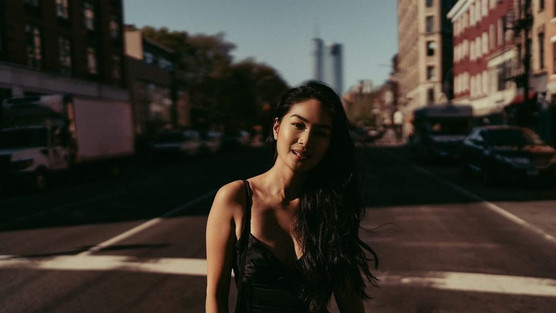 Christine Milo in NYC shot by Mike Ando