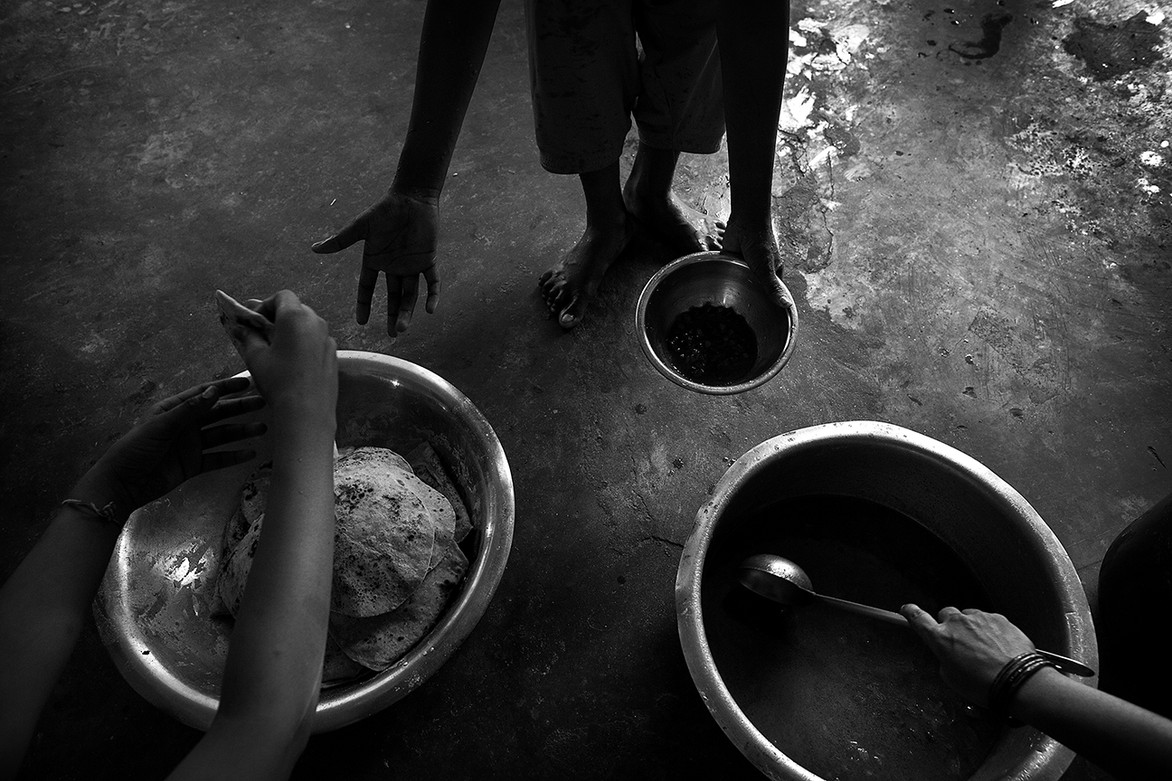 The girls get three meals a day at the border school which is also supported by the local government.