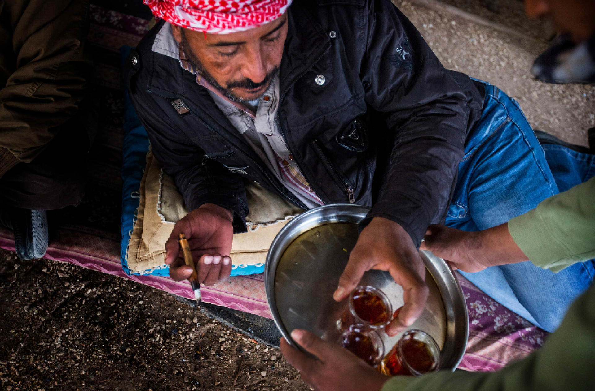 The Jahalin Bedouin live in an impoverished region of the West Bank in the desert. The few jobs available to them are often at Jewish settlements doing menial work.