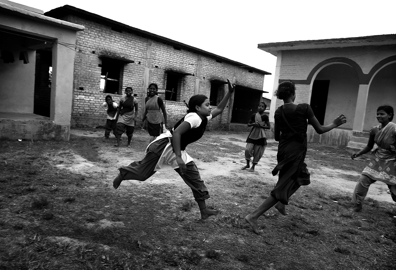 The schoolgirls play a game of Kabaddi during recess. Had many of them not been placed into the school by Apne, they would have ended up in prostitution like their mothers and grandmothers. It is hard to say how many of the girls still slip through the cracks and fall into prostitution.