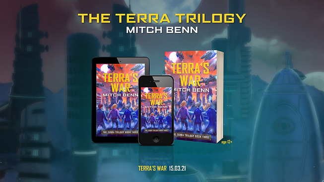 Terra's War in paperback, on tablet and on mobile