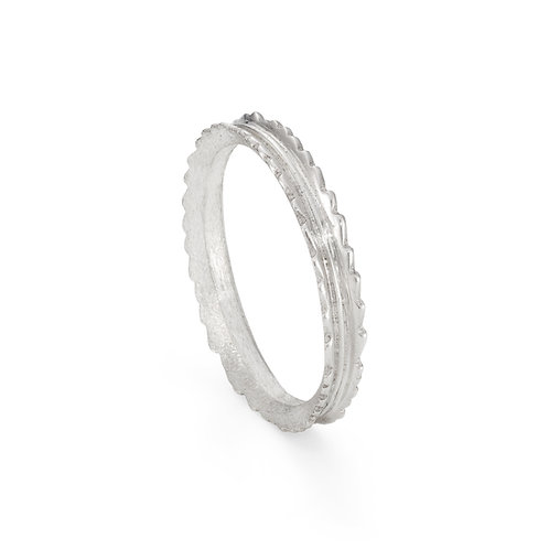 Silver Narrow Willow Leaf Ring
