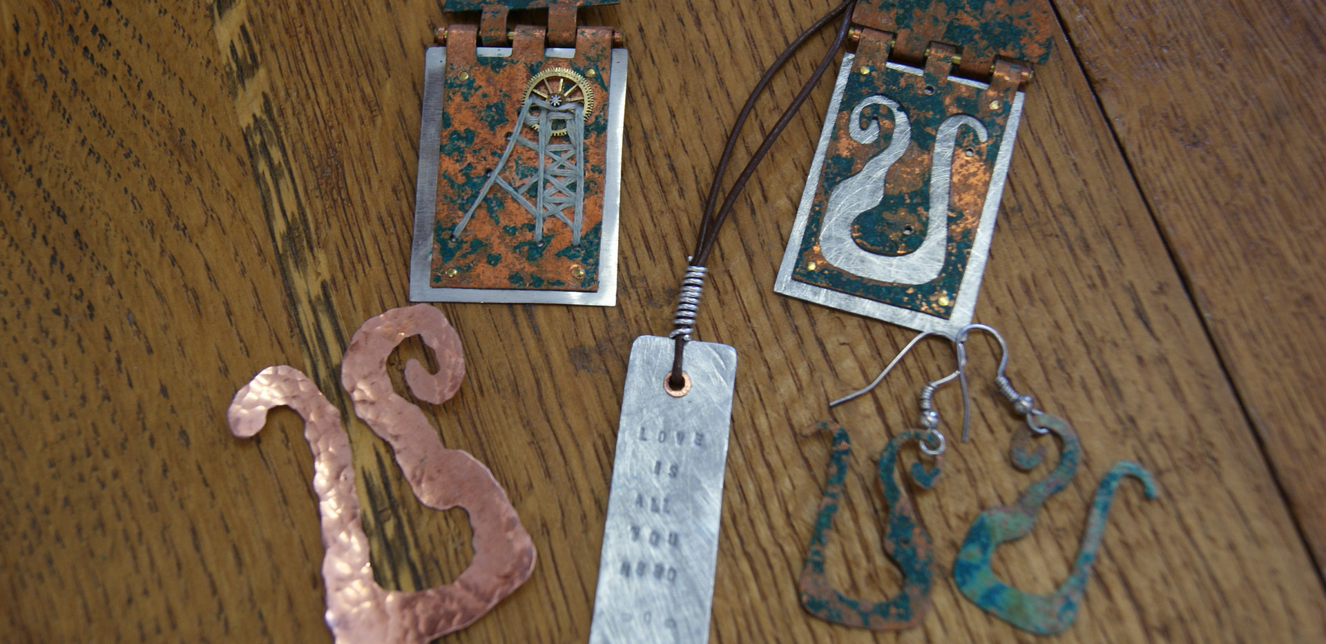 Collection of jewellery made by Bee Pellow