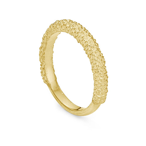 Gold Willow Catkin Ring