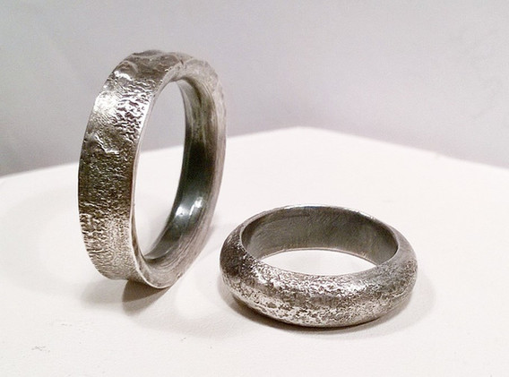 Reticulated silver rings