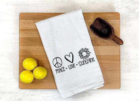Peace, Love, Sunshine Towel