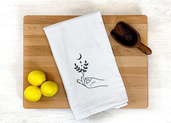 Hand and Moon Towel