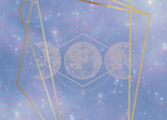 Elegant Moon Postcard