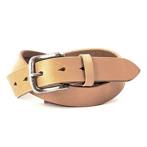 ART BROWN UK Saddle Leather Belt Tan