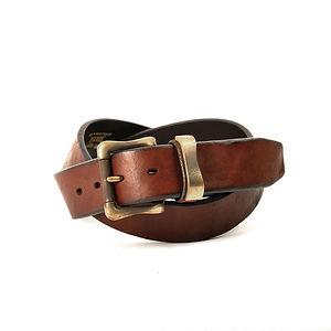 VINTAGE WORKS Leather Belt