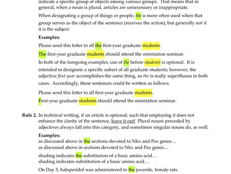 Proper Use of Articles (a, an, the)