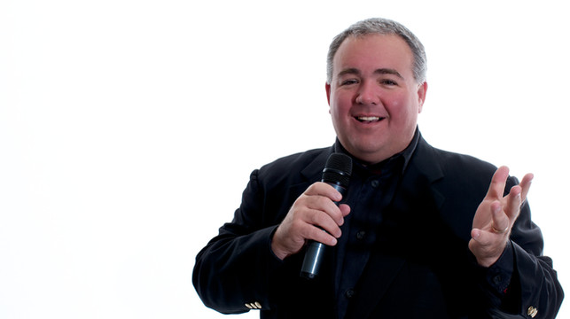 Marc Oleary with Microphone
