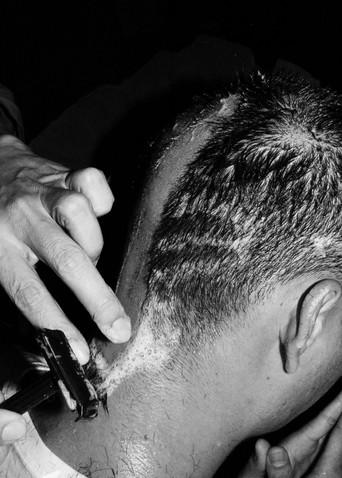 Shaving of the hair