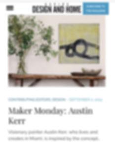 Aspire Design And Home editorial of Miami artist Austin Kerr
