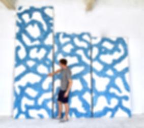 Miami based Abstract artist Austin Kerr in his art Miami studio