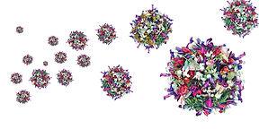 Envolé céleste de molécules florales   50 x 100 cm