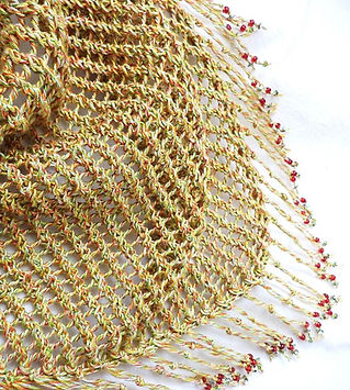 Kaylen Mesh Scarf Beginner Knitting Pattern With Beads And Sequins