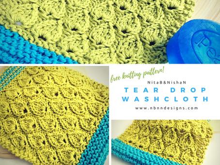 Tear Drop Washcloth