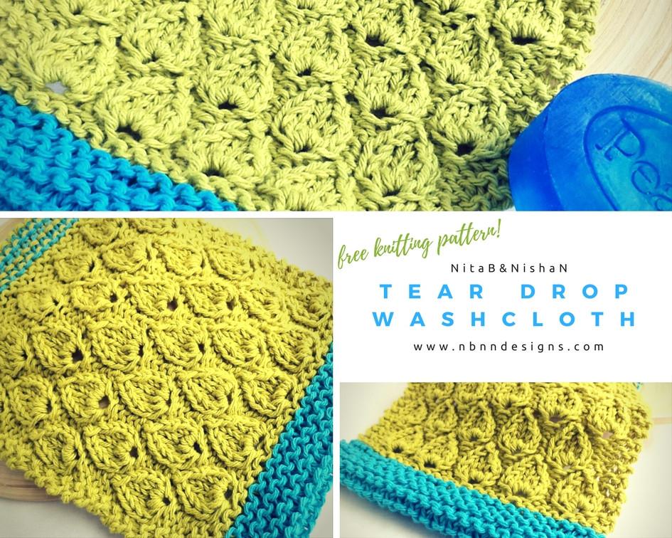 Tear Drop Washcloth Download Free Knitting Pattern