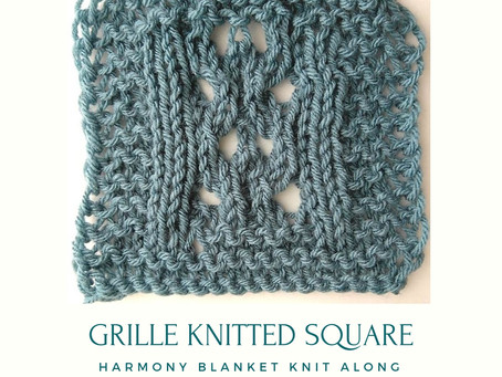 Grille Knitted Square