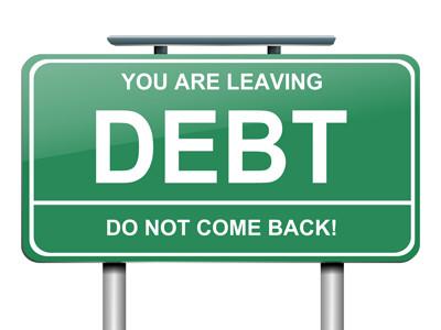 Get outta here debt!