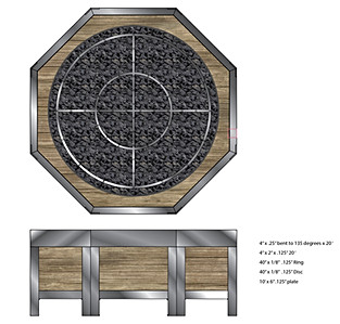 Illustrator layout of fire pit.