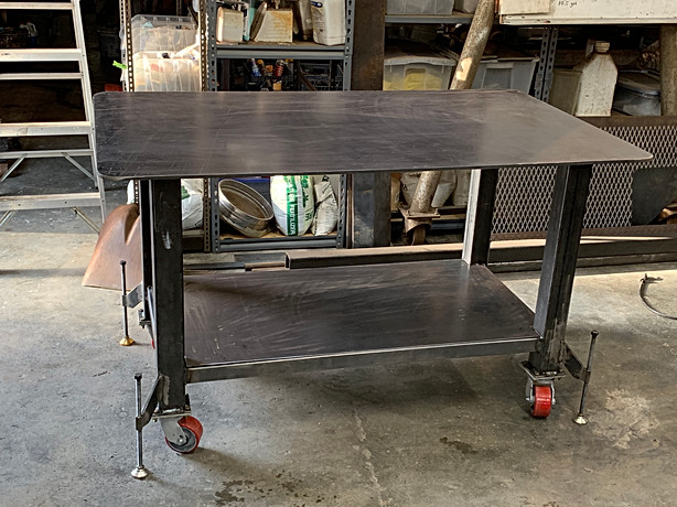 Finished welding table ready for paint.