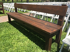 Finished ceremony benches.