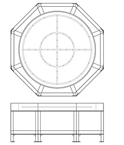 Illustrator layout of internal firepit.