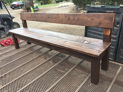 Finished 8' ceremony bench