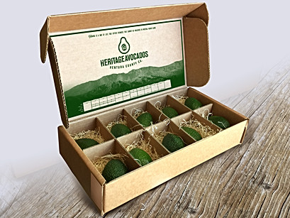 Shipping packaging for avocados