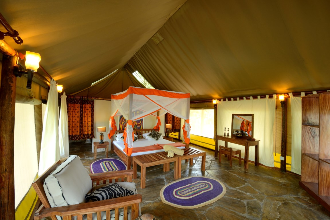 Selous Riverside Safari Camp Tents