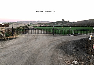 Photoshop layout of entrance gates into ranch.