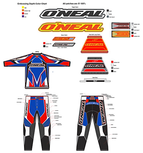 Hardware pant, jerseys and patch layout