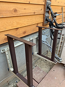 Fabricated and mounted elevation brackets to lower brace.
