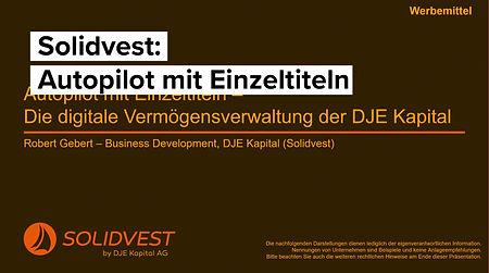 Solidvest - Die digitale Vermögensverwaltung