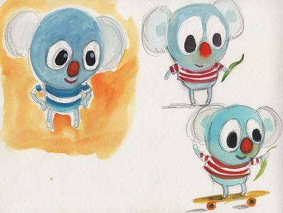 blue bear sketches showing character development by Lorette Broeskstra.jpeg