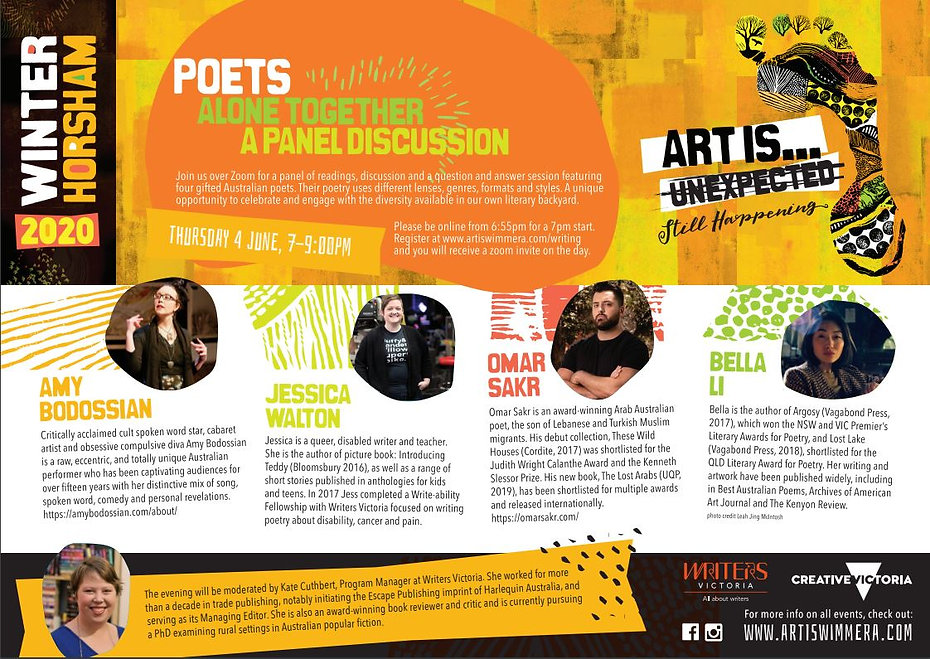 Flyer for Art is... festival event - the text is the same as the page content