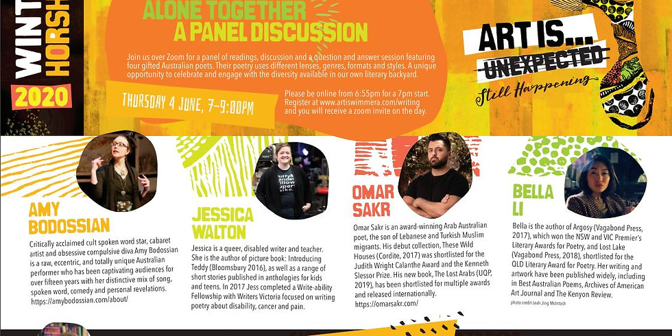 Poets Alone Together – A Panel Discussion