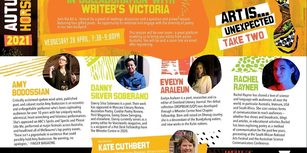 A Panel of Performing Poets - with Writers Victoria